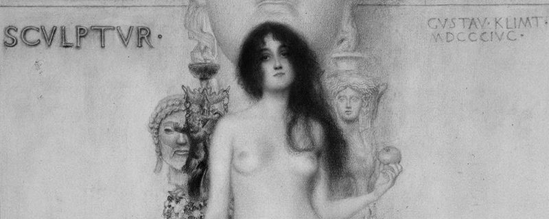 Alegoría de la escultura de Gustav Klimt