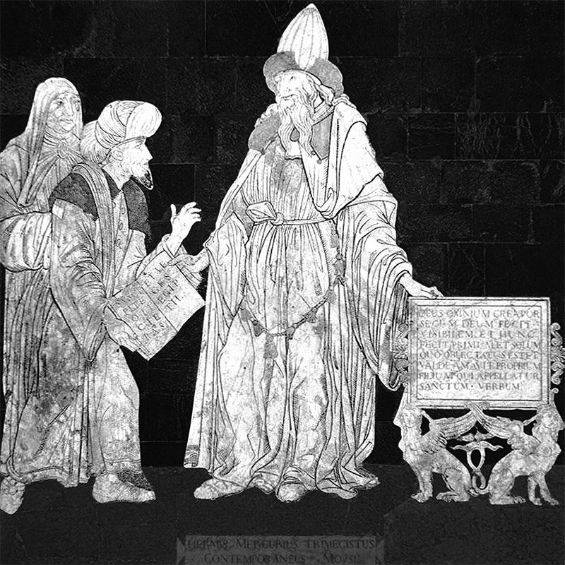 Hermes Trismegisto en la Catedral de Siena.