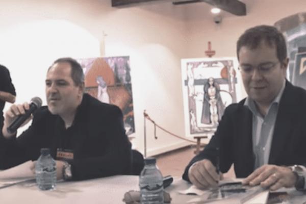 Javier Sierra y Pedro Ortega en el Salón del Misterio